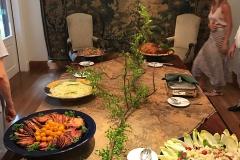 Geral da mesa do almoço