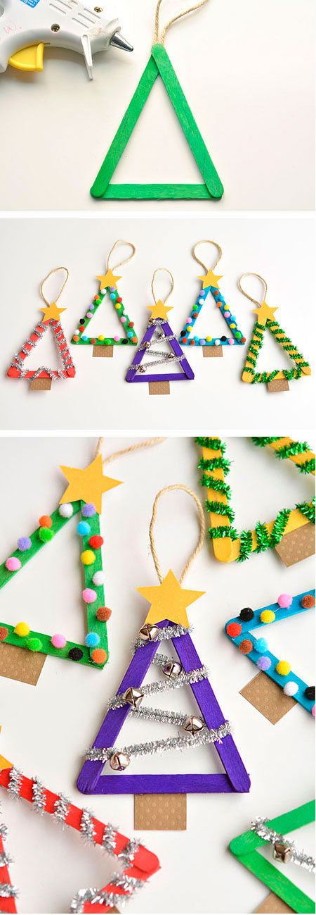 Popsicle-Stick-Christmas-Trees