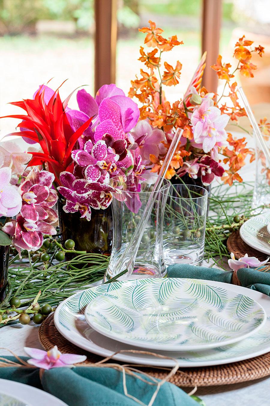 mesa de almoco tropical para praia 2