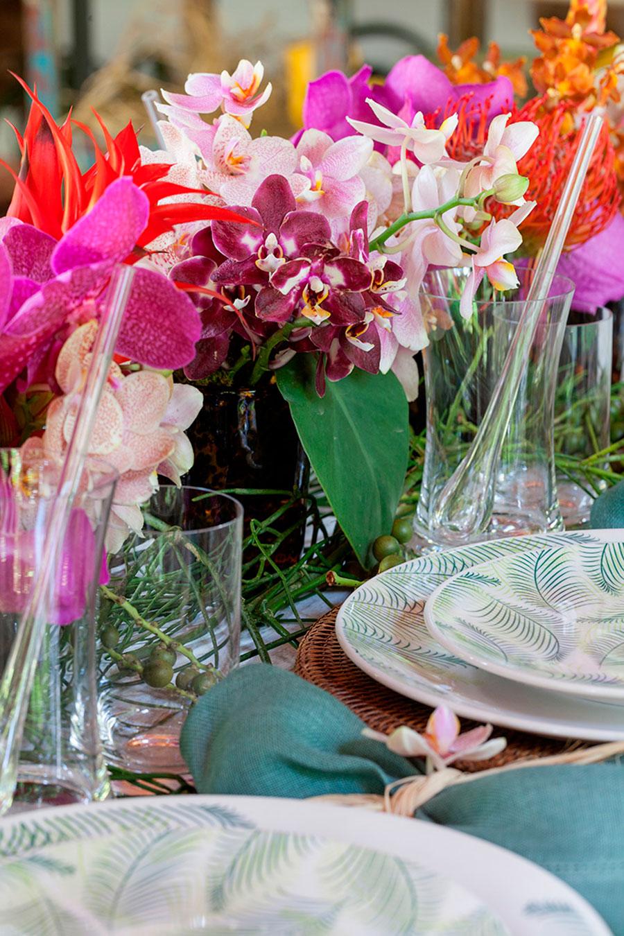 mesa de almoco tropical para praia 3