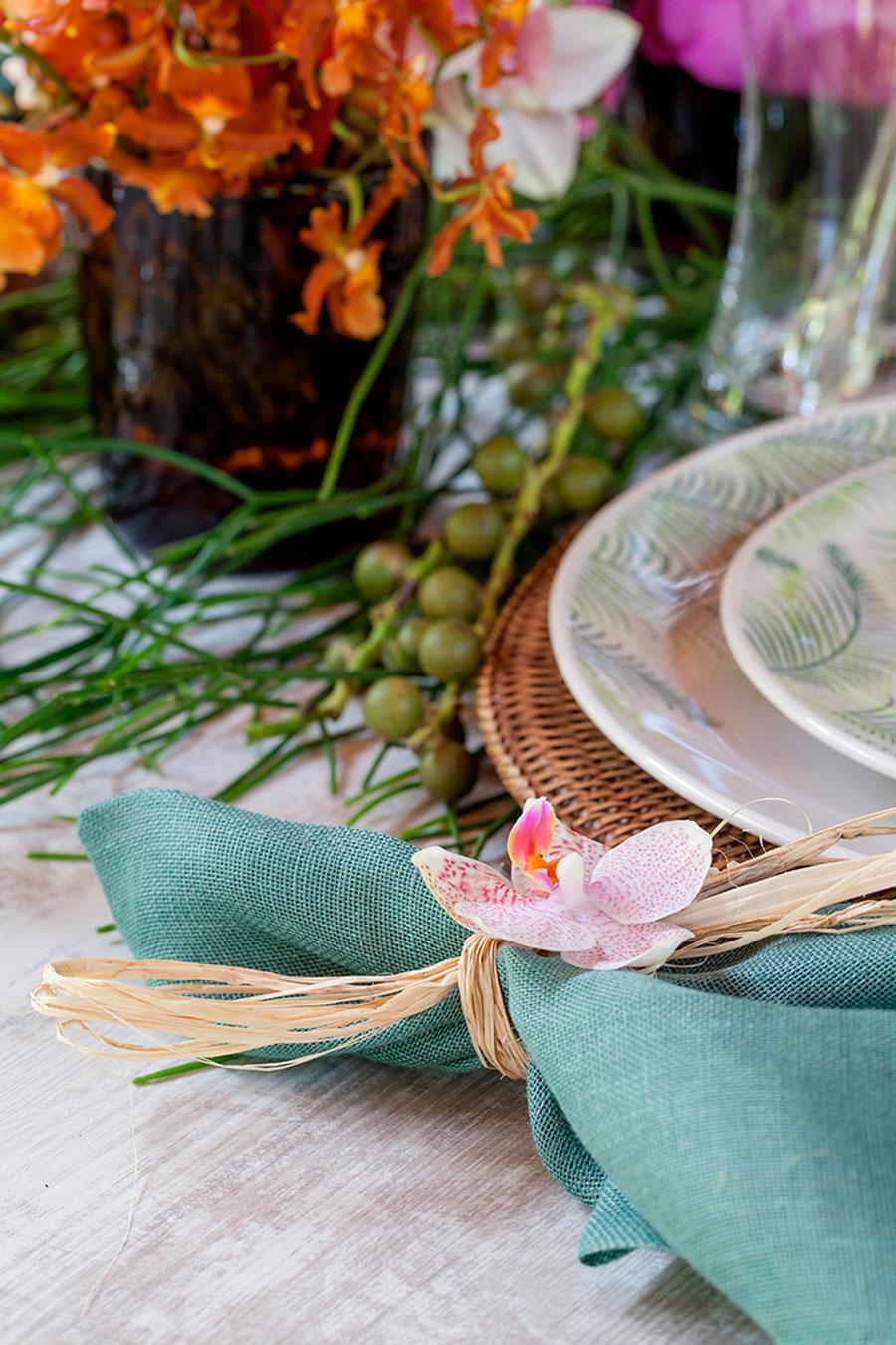mesa de almoco tropical para praia 4