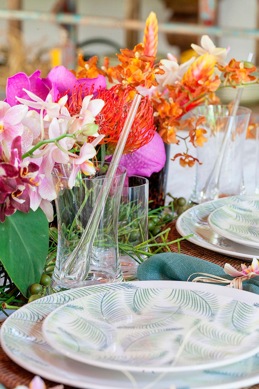mesa de almoco tropical para praia 5