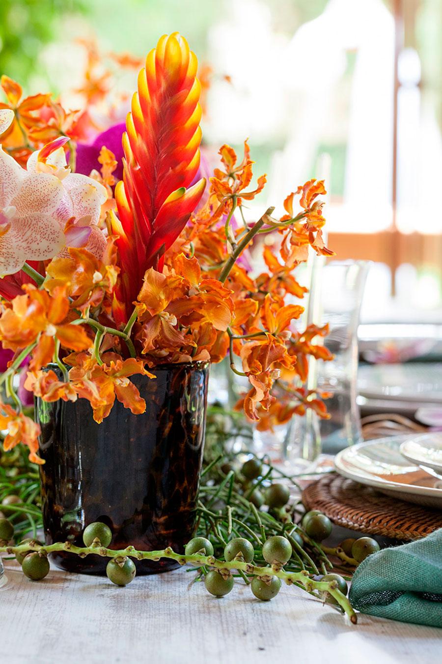 mesa de almoco tropical para praia 7