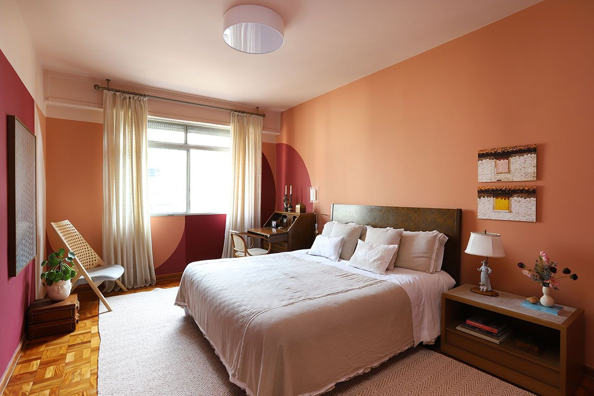 Apartamento alugado colorido