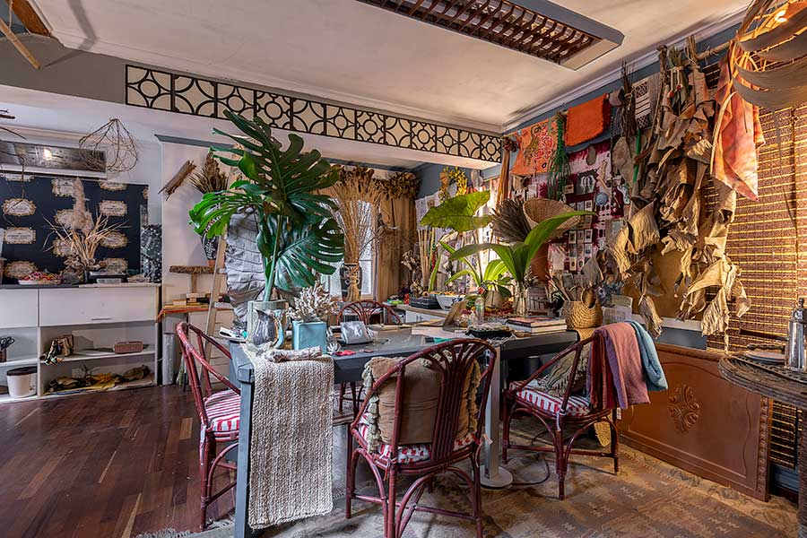 casa de colecionador florista artesanato